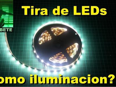 Tira de LEDs como unica iluminacion general?