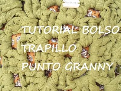 TUTORIAL BOLSO TRAPILLO LIGERO CON GRANNYSQUARE