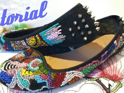 Tutorial: Cómo bordar zapatos con canutillos!
