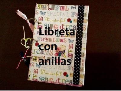 Tutorial Scrap: Libreta con anillas - Scrap Tutorial: Notepad with rings