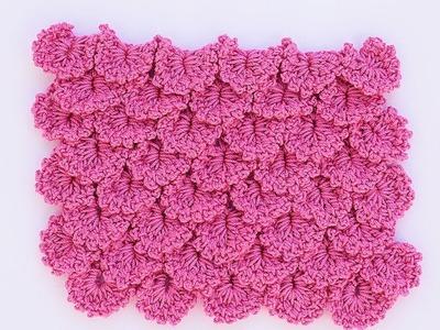 Variante punto cocodrilo a crochet