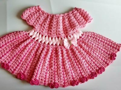 Vestido a crochet para bebe parte #1