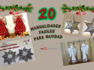 20 manualidades fáciles para navidad - 20 easy crafts for Christmas