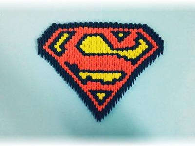 3d origami - Escudo De Superman