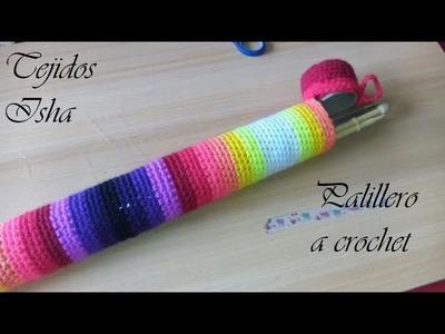 47.- Palillero hecho a Crochet