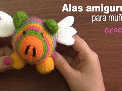Alas amigurumi para muñecos (crochet) - Tejiendo Perú