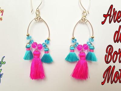 Aretes con Borlas, Fáciles de Hacer! Tassel Earrings DIY