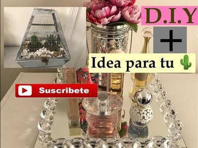 Bandeja de espejo con Diamantes +Idea para tu captus.
