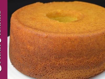 Bizcocho para tartas con fondant. Recetas de bizcocho casero