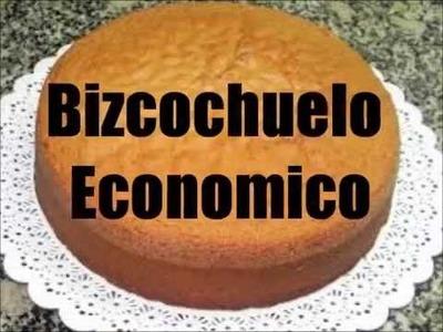 Bizcochuelo Economico y Facil