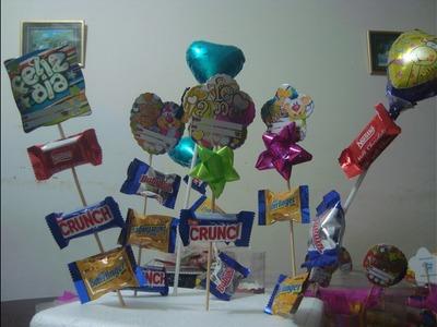 Brochetas de chocolates y dulces para fechas especiales (paso a paso)