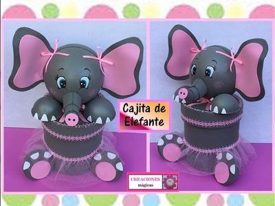 ♥♥Cajita organizadora de elefante hecha con lata de aluminio-Creaciones mágicas♥♥