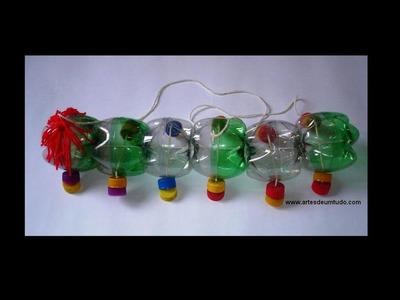 Centopeia de Garrafas Pet #01 Brinquedo de garrafa pet. parte 01. marionete de garrafa pet