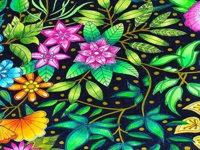 Coloreando EL JARDÍN SECRETO, FLORES - Mery