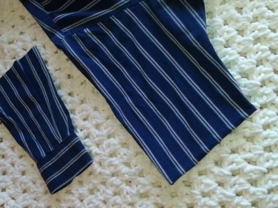Cómo cortar una camisa de manga larga a manga corta.