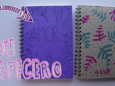 Cómo decorar cuadernos sólo con lápiz y papel│Candy Bu