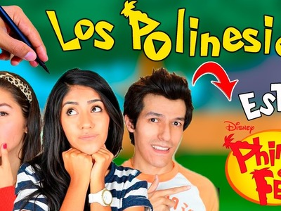 Cómo Dibujar a los Polinesios estilo phineas and ferb│Phineas and Ferb