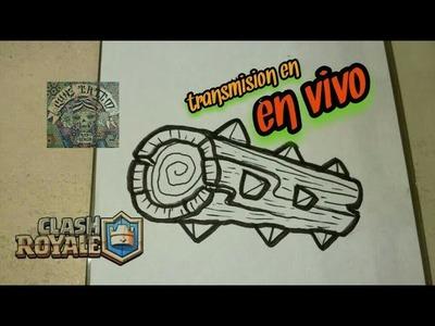 COMO DIBUJAR EL TRONCO LEGENDARIO - CLASH ROYALE  (en vivo)