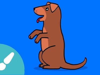 Cómo dibujar un perro. Dibujos para niños