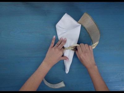Cómo doblar una servilleta