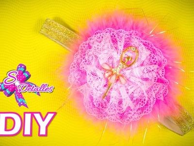Como hacer Cintillos o Diademas: Cintillo o Diadema con Flor de Encaje | Video# 37 | SDetalles | DIY