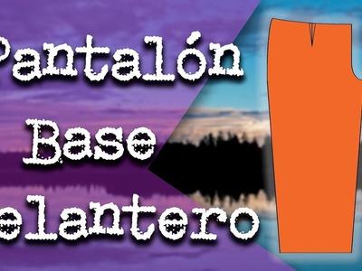 Cómo hacer el Patrón (Molde) del Pantalón Base Delantero Paso a Paso
