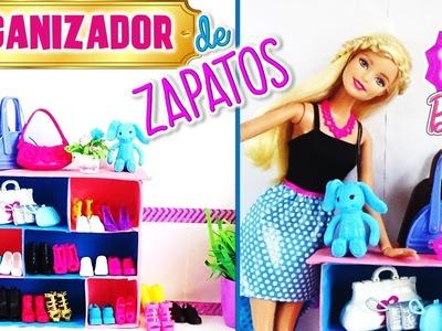 Como hacer ORGANIZADOR para zapatos y bolsas de MUÑECAS Barbie. ZAPATERA Para MUÑECAS DIY