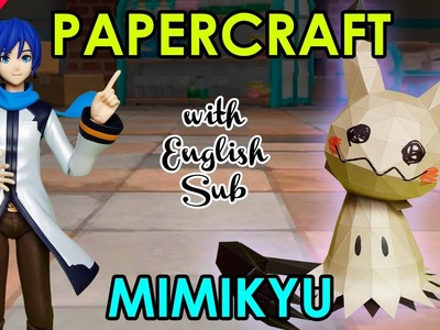 CÓMO HACER PAPERCRAFT - MIMIKYU, ESPECIAL DE HALLOWEEN (WITH ENG SUB)