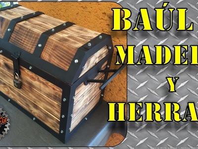 Como hacer un Cofre.Baúl de Madera y Herraje paso a paso | DIY
