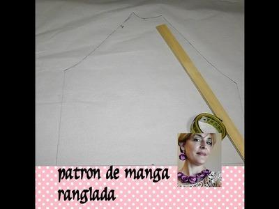 COMO HACER UN PATRÓN DE MANGA RANGLADA