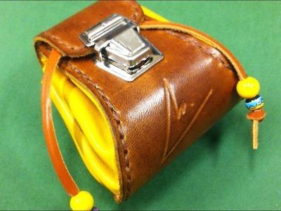 Cómo hacer una bolsa de judas de cuero. Modelo Nº1