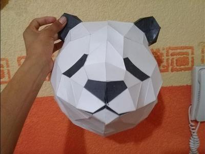 Como hacer una cabeza panda papercraft + spoiler