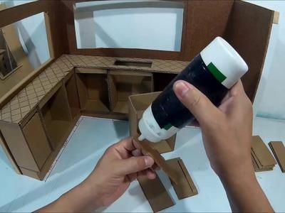 Como hacer una cocina de cartón para muñecas