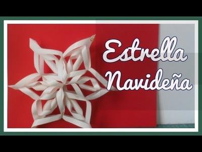 Cómo hacer una estrella de papel de seis puntas - Tutorial - DIY- Manualidades navideñas