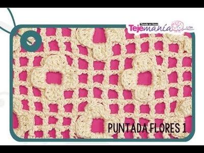 Cómo tejer puntada de flores 1 en crochet