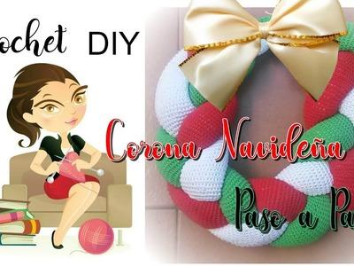 Cómo Tejer una Corona Navideña a Crochet DIY ????
