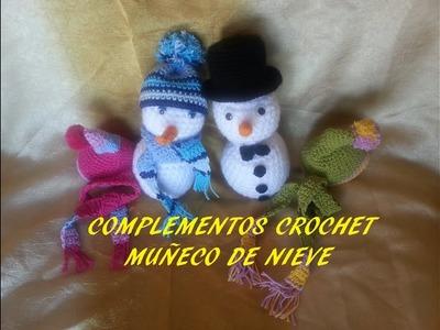 Complementos muñeco de nieve parte final