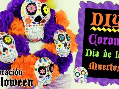 Corona de Día de Muertos, Decoración para Halloween por ℳarlene ℭampos
