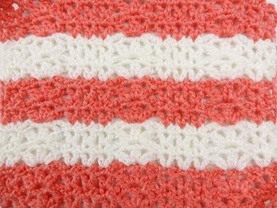 Crochet: Punto para Manta de Bebe # 2