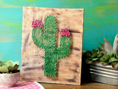 Cuadro de Cactus con Hilo