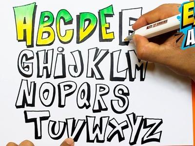 Dibuja y Colorea las letras de Arco Iris - Learn color - Aprende los colores -Easy Art
