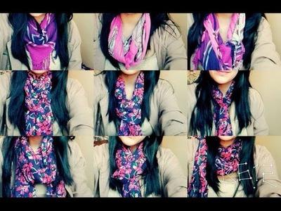 Diferentes formas de usar una bufanda ✿❀❁