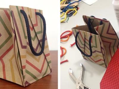 DIY Bolsa de Papel para Regalo (craft) ~ Fácil y rápido