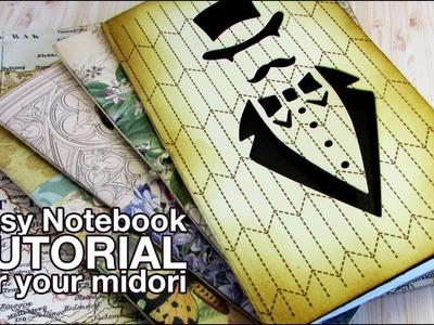 Easy notebook for your midori. La libreta con la encuadernación más fácil del mundo TUTORIAL