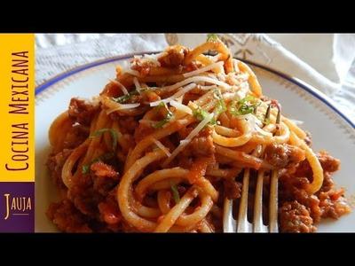 El Mejor Espagueti Rojo con Carne Molida
