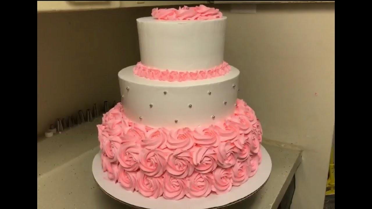 Es viernes y ya estoy montando pastel de tres pisos en medida de 6,9 y 12 pulgadas