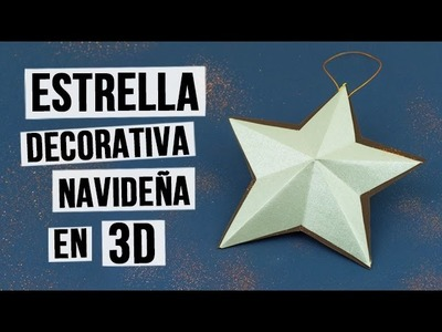 Estrella decorativa navideña en 3D