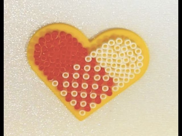 Hama. Perler Beads - Valentine's Day Heart