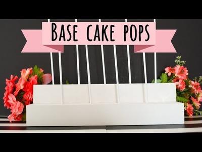 Haz una Base para Cake Pops | Cakepop-era | Ale Hervi