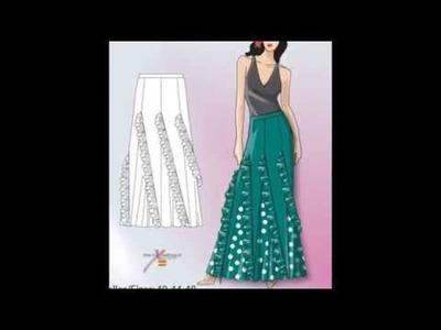 Hermosos diseños de faldas con patrones